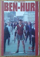 Ben-Hur programme BAC theatre 2002-2003 Will Adamsdale Nicola Herring