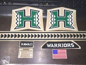 HAWAII WARRIORS (2020) FULL SIZE-Football Helmet Decals with SPEED (BACK)