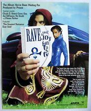 PRINCE 1999 Poster Ad RAVE UN2 THE JOY FANTASTIC