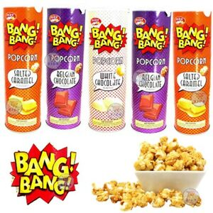 3 x EAZY POP BANGBANG POPCORN CARAMEL SALTED WHITE CHOCOLATE SWEETS SNACK 85g