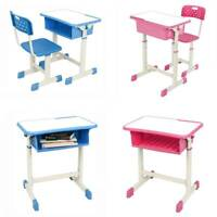 Adjustable Children Desk and Chair Set High Grade Student Learning Study School