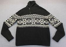 RALPH LAUREN Men BLACK WHITE Angora Cashmere ZIP SHAWL COLLAR SWEATER NWT S $265