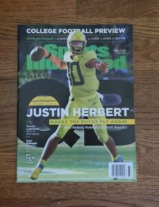 🏈 2019 JUSTIN HERBERT  Sports Illustrated NEWSSTAND first cover (read)