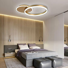 Ceiling Lamp Light Modern 48W Led Chandelier, Ceiling Fixtures 2 Rings w/ Remote