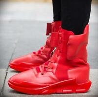 Hot Men Round Toe Lace Up High Top Sport Casual Shoes Ankle Boots Nightclub I283