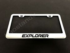 1x EXPLORER STAINLESS STEEL LICENSE PLATE FRAME + Screw Caps*