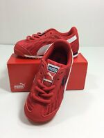 Puma Roma Digital Toddler Lace Up Sneaker High Risk Red White - 359640-02