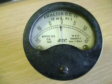 """GEC Moving Coil DC Ammeter 2 1/2"""" 15mA P/N 168830A - 1940"""