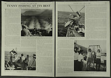 Tunny Fishing At Its Best South Africa Hout Bay 1958 2 Page Photo Article