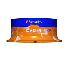 ($0 P&H) VERBATIM Branded DVD-R 4.7GB 16x Spindle  1 Pack OF 25  Pcs P/N 95058