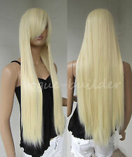 75cm 30 inch Heat Resistant Long Blonde Straight Cosplay Wig Free Shipping