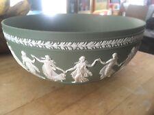 "Wedgwood Jasperware Sage Green 10+"" Dancing Hours Sacrifice Bowl Nice! 2 availab"