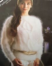 """FL2 - Knitting Pattern - Lady's Mohair Luxurious Jumper - Size Options - 30-40"""""""