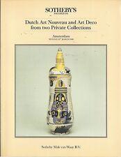 SOTHEBY'S DUTCH ART NOUVEAU DECO Pottery Glass Silver Jewelry Eisenloeffel Cat86