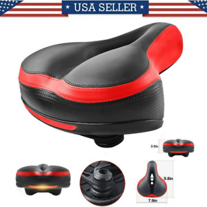 Comfort Wide Big Bum Soft Gel Cruiser Bike Saddle Bicycle Seat Air Cushion Pad