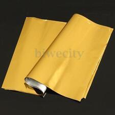 """50 Sheets A4 8""""x12"""" Laser Printer Hot Laminator Gold Transfer Foil Paper Leaf"""