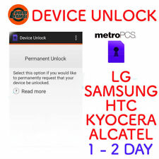 METRO PCS PHONE DEVICE UNLOCK APP for HTC SAMSUNG LG KYOCERA ALCATEL ZTE 1-2 DAY