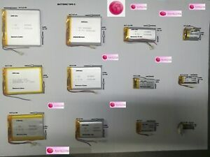 BATTERIA RICARICABILE AI POLIMERI DI LI PO 3.7 V  per Tablet PC DVD GPS PAD