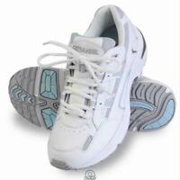 Orthaheel Lady's Plantar Fasciitis Walking Shoes White and Blue Size 6.5 Vionic