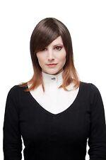 Perruque Pour Femme Ombre Cheveux Braun/Rouge brun Mix longue jusqu'aux épaules