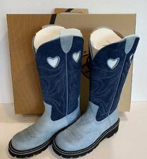 Ariat Womens Boots Baby Buck Round Toe Tall. Blue /Indigo  Sz 8 1/2 Style 15240