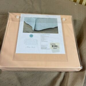 Martha Stewart Collection Twin Pima Cotton 360 Thread Count Bedskirt Coral