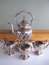 SHEFFIELD Silverplate Tilting Teapot Tea Set