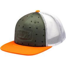 100% Stamped Cap Mütze Olive Orange KTM Trucker MX Enduro Motocross Quad MTB