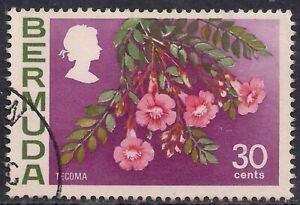Bermuda 1970 - 75 QE2 30ct Tecoma Flower SG 261 ( R1111 )