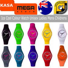 Unisex Ladies Mens Childrens Ice Cool Color Watch Wrist Material Silicon,Plastic