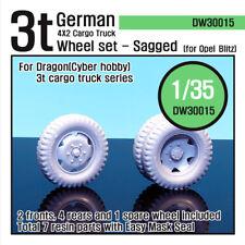 DEF.MODEL, DW30015, WW2 German 3t Cargo Truck Wheel set (for Dragon 1/35), 1/35