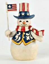 JIM SHORE HEARTWOOD CREEK - STARS AND STRIPES IN ALL SEASONS - PINT SIZE SNOWMAN