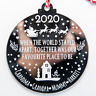 Personalised 2020 Lockdown Christmas Bauble Decoration Engraved Mirror Acrylic