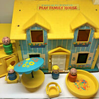 Vintage 1969 #952 Fisher Price Play Family House Little People Accessories