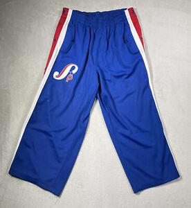 South Pole Men's XL Track Pants 34W Baggy Loose Leg Royal Blue Embroidered Logo