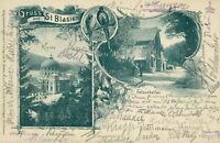 Ansichtskarte St. Blasien Felsenkeller 1900  (Nr.750)