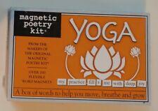 New YOGA Magnetic Poetry Kit