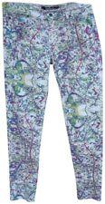 LIP SERVICE Colorful Paint Splatter Graffiti Art Jeans SIZE 13
