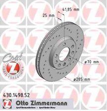 Disque de frein avant ZIMMERMANN PERCE 430.1498.52 SAAB 9-3 Break 2.0 1,8 t BioP