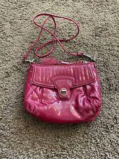 Coach Poppy Crossbody Bag HOT PINK Liquid Gloss Mini Groovy Purse PATENT LEATHER