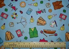 Riley Blake Girl Scouts of the USA accessories gear  By the 1/2 yd cotton fabric