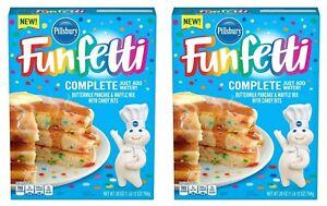 2 Pillsbury Funfetti Buttermilk Pancake & Waffle Mix with Candy Bits 28 oz Boxes