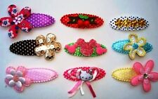 100 Padded Satin Polka Dots Hair Clip/Bow Cover/custom made/craft/supplies L93