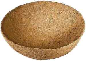 """HANGING BASKET LINERS  THICK MOULDED COCONUT FIBRE CHOICES OF 12"""" 14"""" 16"""" 18"""""""