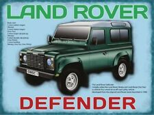 Land Rover Defender small steel sign  200mm x 150mm (og)
