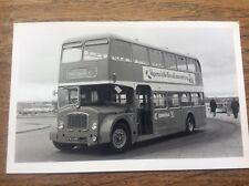 Vintage Photo Photograph Double Decker Bus Buses SFM 8 Silcox Pembroke Dock