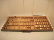 D Vintage Printer Tray Letter Press Ink Drawer Wood Shaddow Box Drawer