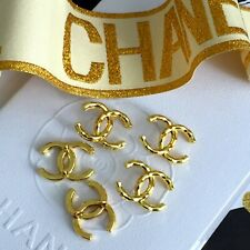 Knöpfe SET 5 x Knopf Bouton Button Coco Chanel CC Logo Metall  1,3 cm x 1,7 cm
