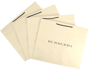BURBERRY Empty Shopping Gift Paper Bag 4P Set Large Ivory -67
