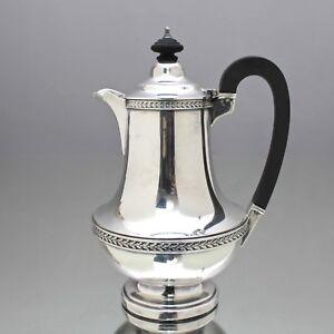 Elkington, Birmingham: kleine Kaffeekanne im Georgian Style, versilbert, Kanne